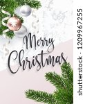 merry christmas greeting card... | Shutterstock .eps vector #1209967255
