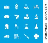medical icon. collection of 16... | Shutterstock .eps vector #1209971575
