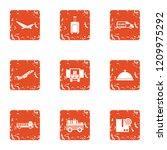 shipment icons set. grunge set... | Shutterstock .eps vector #1209975292