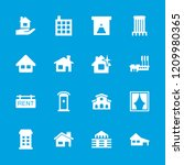 residential icon. collection of ... | Shutterstock .eps vector #1209980365