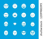 emotion icon. collection of 16... | Shutterstock .eps vector #1209980395