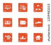 monetary eventuality icons set. ... | Shutterstock .eps vector #1209982015