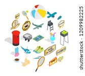 hit icons set. isometric set of ... | Shutterstock .eps vector #1209982225