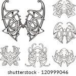 symmetric tribal knot tattoos.... | Shutterstock .eps vector #120999046