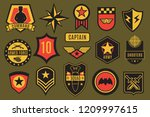 army badges. usa military... | Shutterstock .eps vector #1209997615