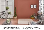 brown living room wall and... | Shutterstock . vector #1209997942