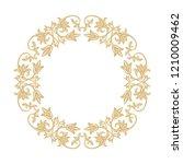 circular baroque ornament. a... | Shutterstock .eps vector #1210009462