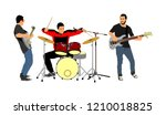 rock and roll band vector... | Shutterstock .eps vector #1210018825