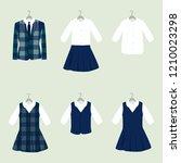 school or college uniforms on... | Shutterstock .eps vector #1210023298