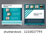 square flyer template. simple... | Shutterstock .eps vector #1210027795