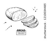 bread drawing. bakery product... | Shutterstock . vector #1210034485