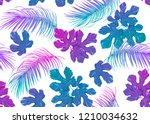 tropic leaves seamless pattern... | Shutterstock .eps vector #1210034632