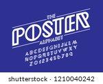 vector of stylized modern font... | Shutterstock .eps vector #1210040242