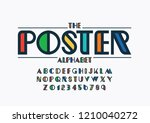 vector of stylized modern font... | Shutterstock .eps vector #1210040272
