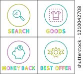 best offer clearance posters... | Shutterstock .eps vector #1210042708