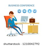 business conference man talking ...   Shutterstock .eps vector #1210042792