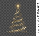christmas tree on transparent... | Shutterstock .eps vector #1210043422