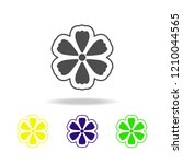 flower color icon abstract...