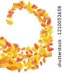 oak  maple  wild ash rowan... | Shutterstock .eps vector #1210053658