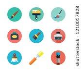 watercolor icon set. vector set ... | Shutterstock .eps vector #1210057828
