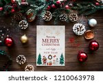 christmas holiday greeting... | Shutterstock . vector #1210063978