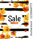 autumn sale background layout... | Shutterstock .eps vector #1210066975