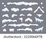 snow caps  snowballs and... | Shutterstock .eps vector #1210066978