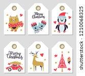 christmas cards set....   Shutterstock .eps vector #1210068325