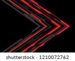 abstract red grey arrow... | Shutterstock .eps vector #1210072762