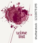 vector wine list with a... | Shutterstock .eps vector #1210075195