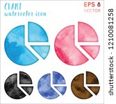 chart watercolor icon set.... | Shutterstock .eps vector #1210081258