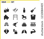 lifestyle icons set with libra  ...