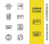 finance icons set with credit... | Shutterstock .eps vector #1210085815