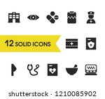 healthcare icons set with heart ... | Shutterstock .eps vector #1210085902