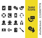service icons set with help... | Shutterstock .eps vector #1210087978
