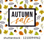 vector autumn sale flyer... | Shutterstock .eps vector #1210094962