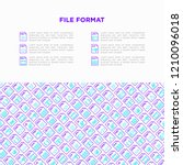 file formats concept with thin... | Shutterstock .eps vector #1210096018