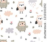 seamless pattern of cute doodle ...   Shutterstock .eps vector #1210101052
