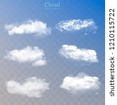 realistic clouds collection.... | Shutterstock .eps vector #1210115722