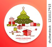 merry christmas and happy new... | Shutterstock .eps vector #1210117915