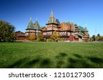 architecture landmark of wooden ... | Shutterstock . vector #1210127305