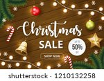 christmas sale banner with... | Shutterstock .eps vector #1210132258