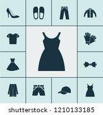 garment icons set with baseball ... | Shutterstock . vector #1210133185