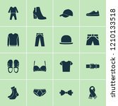 garment icons set with trousers ... | Shutterstock .eps vector #1210133518