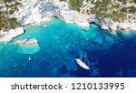 aerial drone bird's eye view... | Shutterstock . vector #1210133995