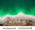 emerald lake top view  abstract ... | Shutterstock . vector #1210141258