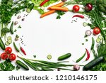 frame of vegetables with a free ...