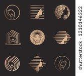 vector logo set for beauty...   Shutterstock .eps vector #1210146322