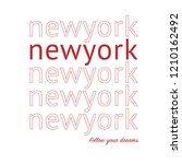 t shirt printing and new york...   Shutterstock .eps vector #1210162492