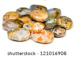 a pile of oval and colorful... | Shutterstock . vector #121016908